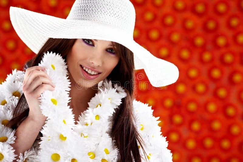 Frühlingsfrau lizenzfreies stockbild