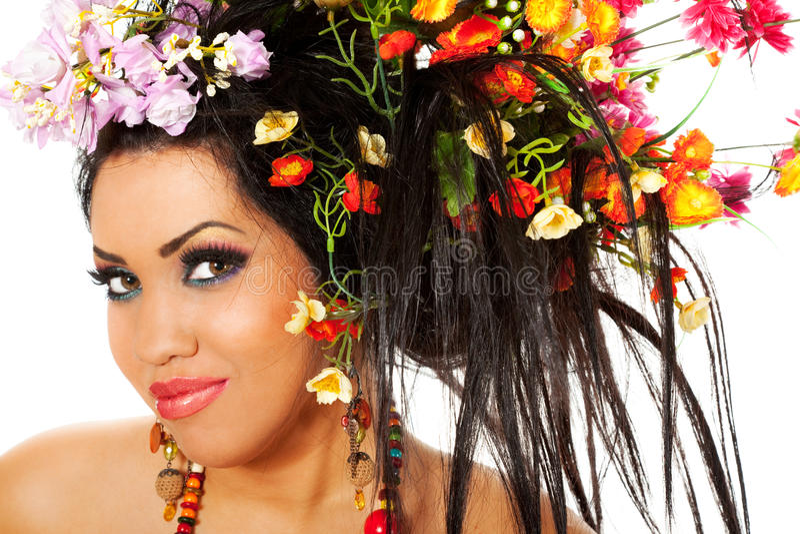 Frühlingsfrauportrait stockfotos