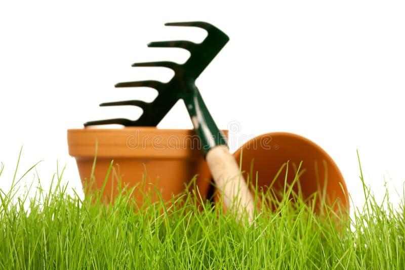Frühlingsgartenarbeit stockfotos