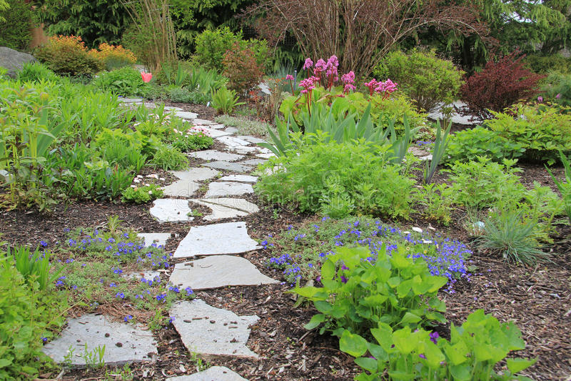 Frühlingsgartenpfad lizenzfreies stockfoto