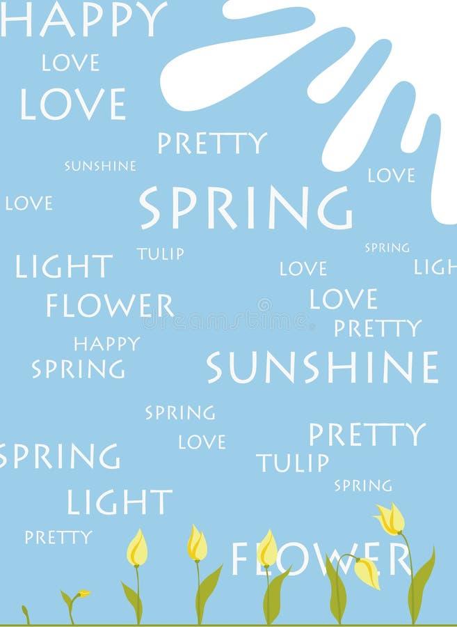Frühlingsgrußleerzeichen stockbild