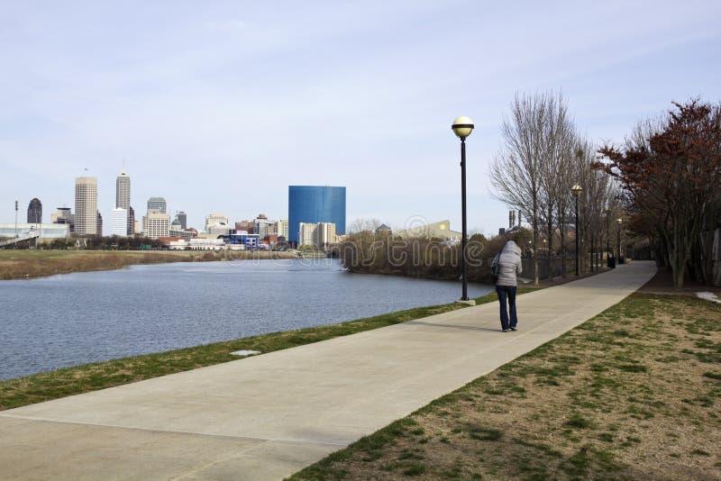 Frühlingsmorgen in Indianapolis stockbilder