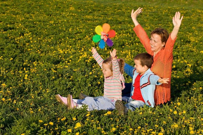 Frühlingssonneanbetern lizenzfreie stockfotografie