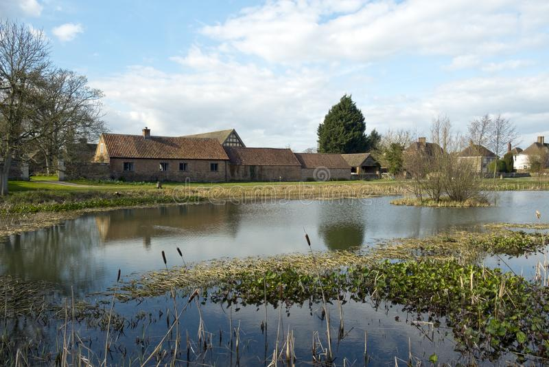 Frühlingssonnenschein, Frampton auf Severn, Gloucestershire, Großbritannien lizenzfreies stockbild