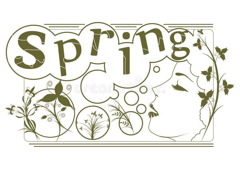 Frühlingsstempel lizenzfreie abbildung