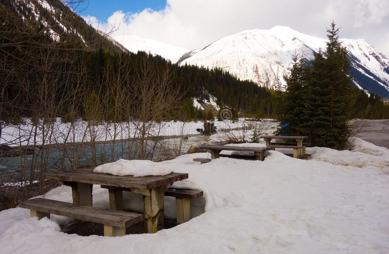 Frühlingstauwetter an einer Ruhezone in Nord-Kanada stockfotografie