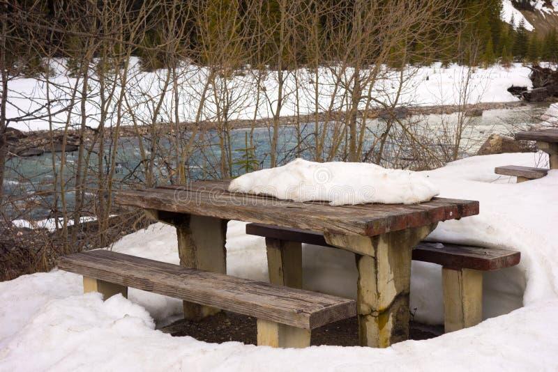 Frühlingstauwetter an einer Ruhezone in Nord-Kanada lizenzfreies stockfoto
