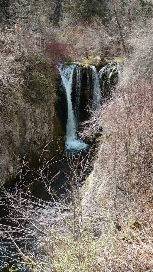 Frühlingswasserfall lizenzfreies stockfoto