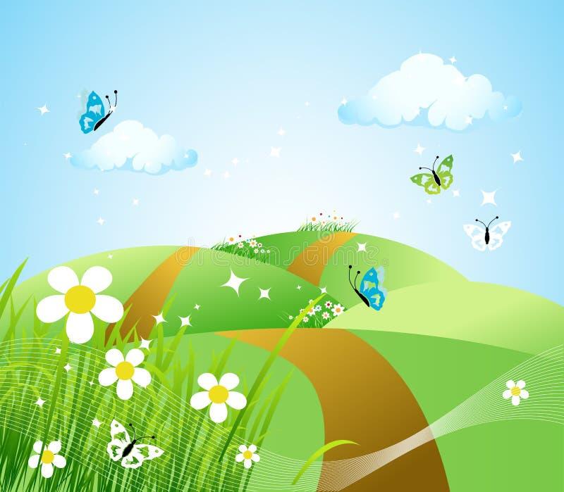 Frühlingswiese schön vektor abbildung