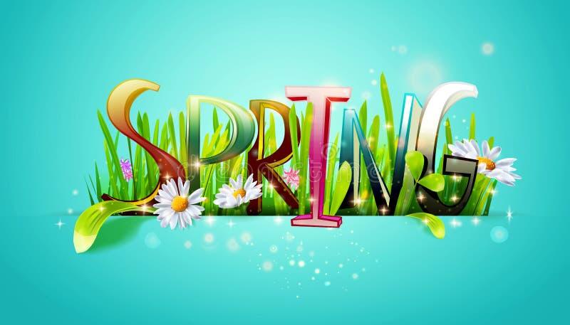 Frühlingswort lizenzfreie abbildung