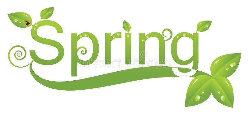 Frühlingszeichenauslegung stock abbildung