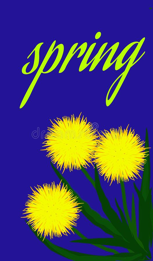 Frühlingszeichnungsblumen stockfoto