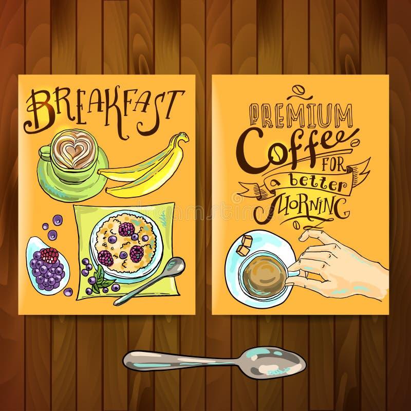 Frühstück lizenzfreie abbildung