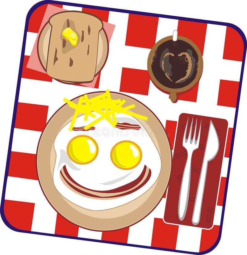 Download Frühstück auf einer Person vektor abbildung. Illustration von inneres - 9090409