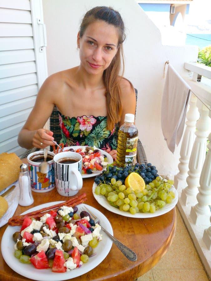 Frühstück auf Zakynthos-Insel lizenzfreie stockfotografie