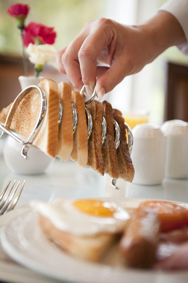 Frühstück, das gedient wird stockfotografie
