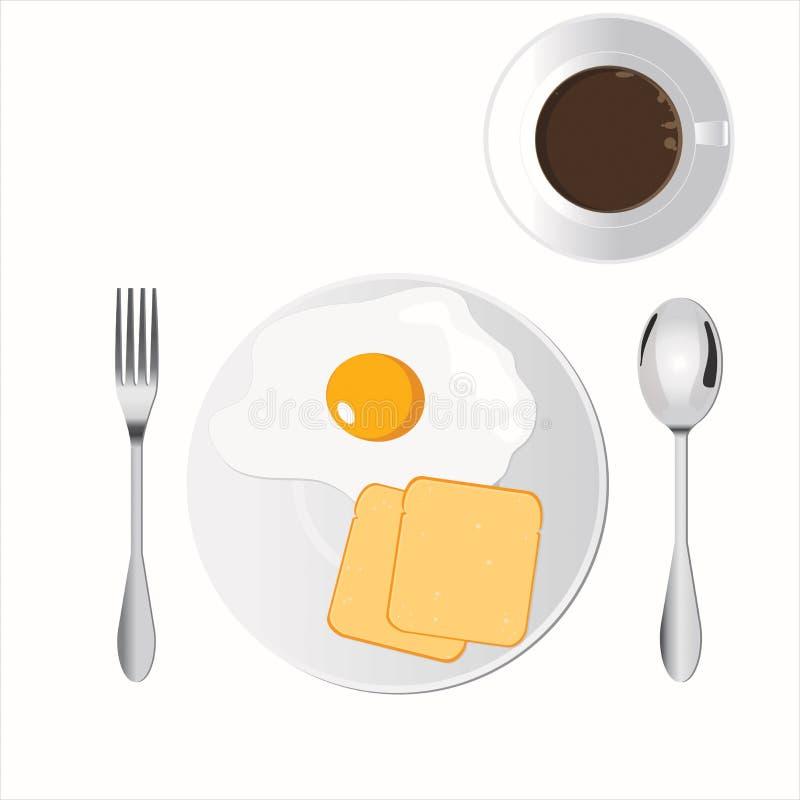 Frühstück eingestellt für Morgen stockbild