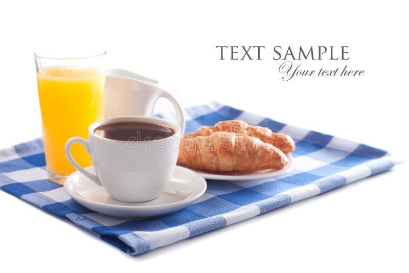 Frühstück getrennt lizenzfreie stockbilder