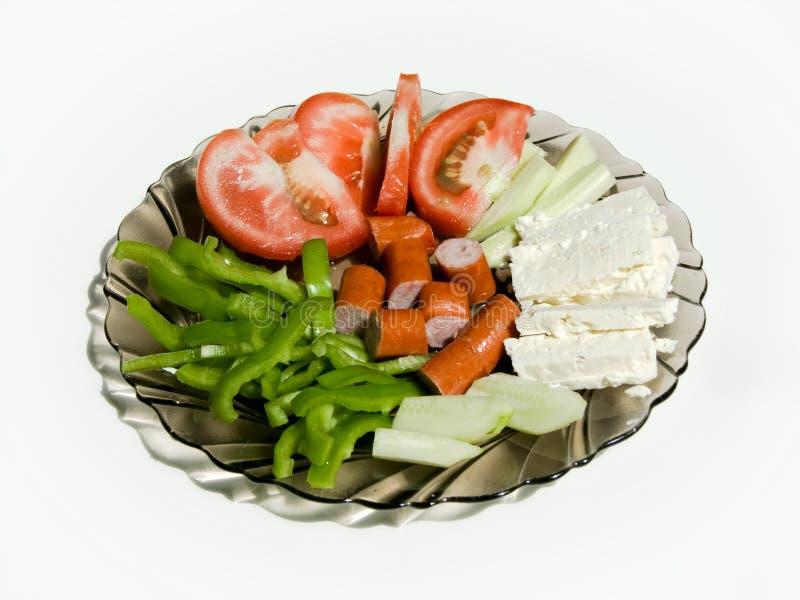 Frühstück mit Käse und Wurst lizenzfreie stockfotografie