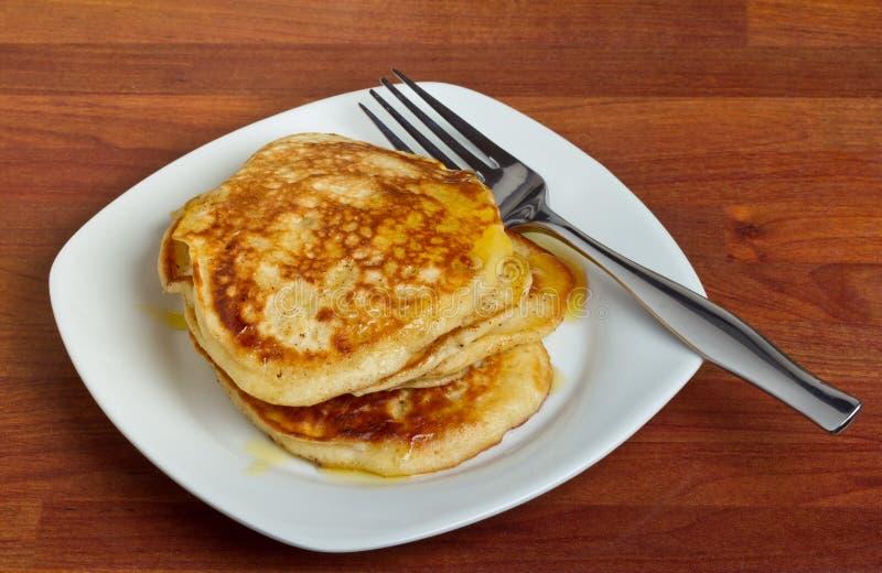 Frühstück-Pfannkuchen stockfotografie