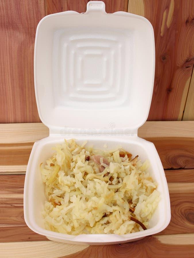 Download Frühstück Takeout stockfoto. Bild von holz, zeder, essen - 48154