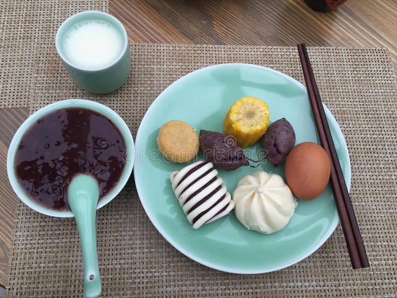 Frühstück in Wuxi lizenzfreie stockfotos