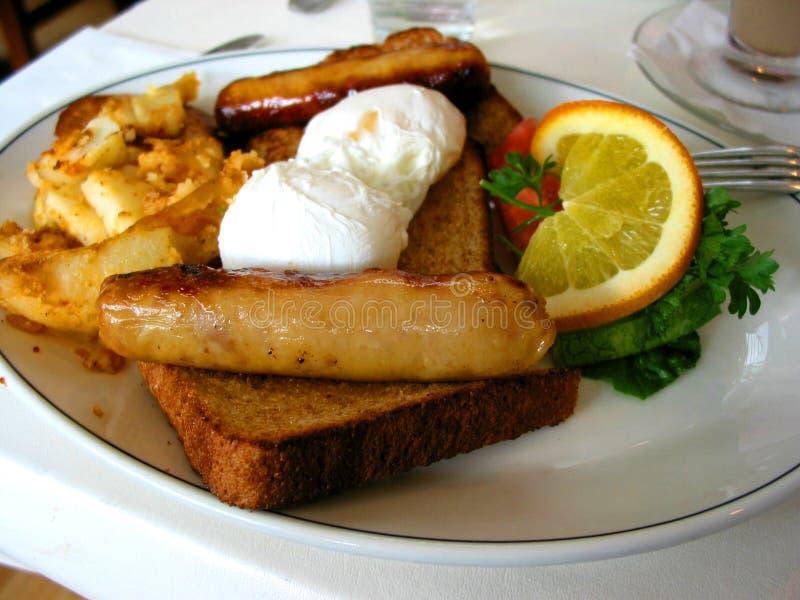 Frühstückplatte lizenzfreies stockfoto