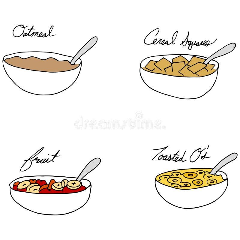 Frühstücks-Schüsseln vektor abbildung