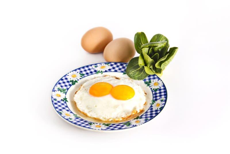 Frühstücksei mit Gemüse lizenzfreies stockfoto
