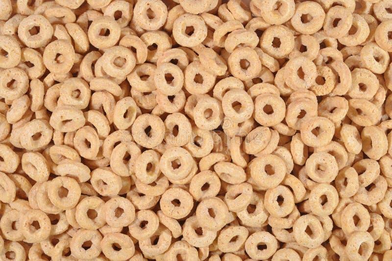 Frühstückskost aus Getreide schellt Hintergrund stockfoto