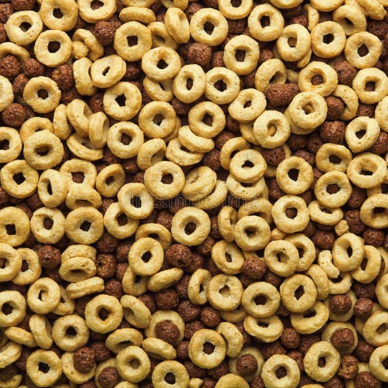 Frühstückskost aus Getreidehintergrund stockbilder