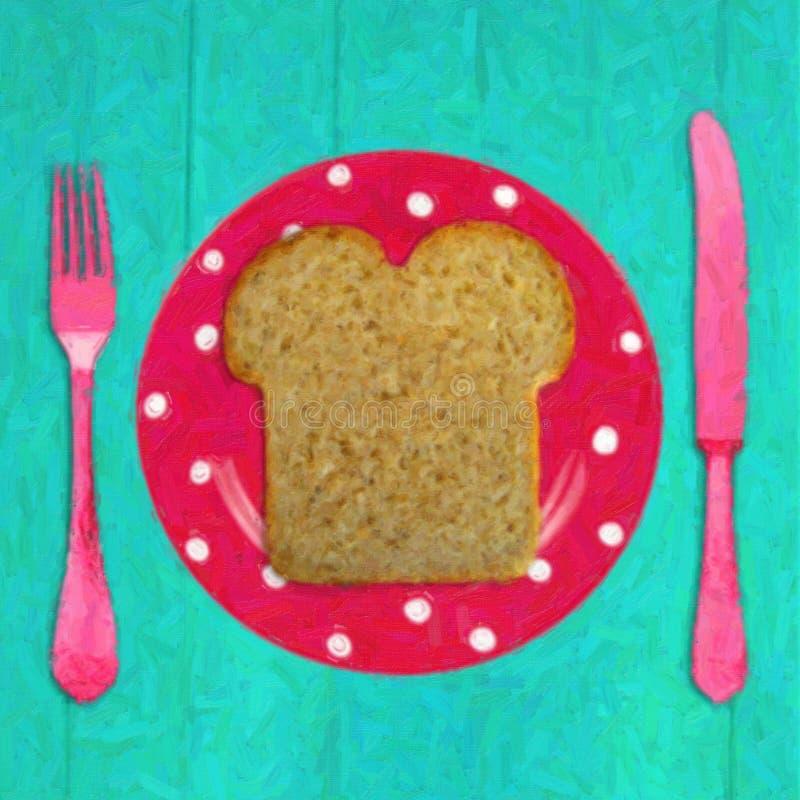 Frühstückszeit lizenzfreie abbildung