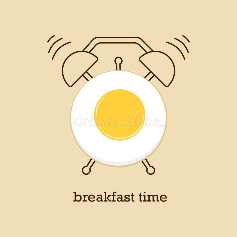 Frühstückszeit mit Eiern lizenzfreie abbildung