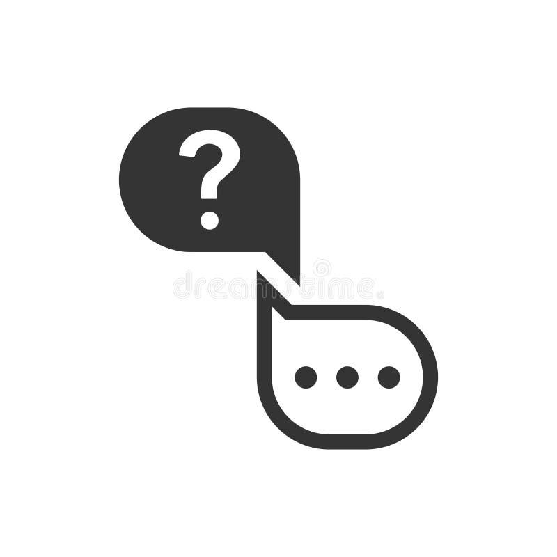 Fr?ge- och svarssymbol stock illustrationer