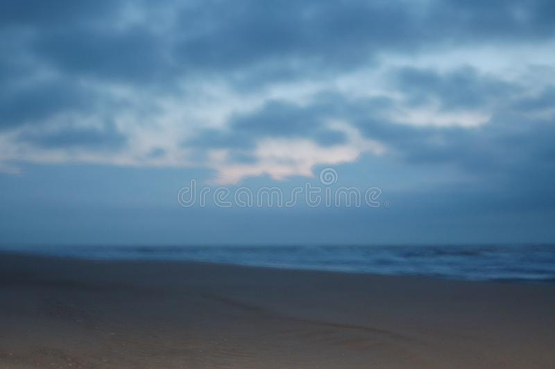 Fr?her Morgen auf dem Strand stockfotos