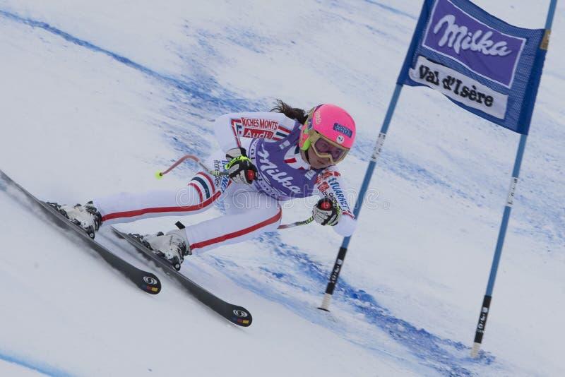 FRA: Alpejskiego narciarstwa Val D'Isere Super Łączący zdjęcia royalty free