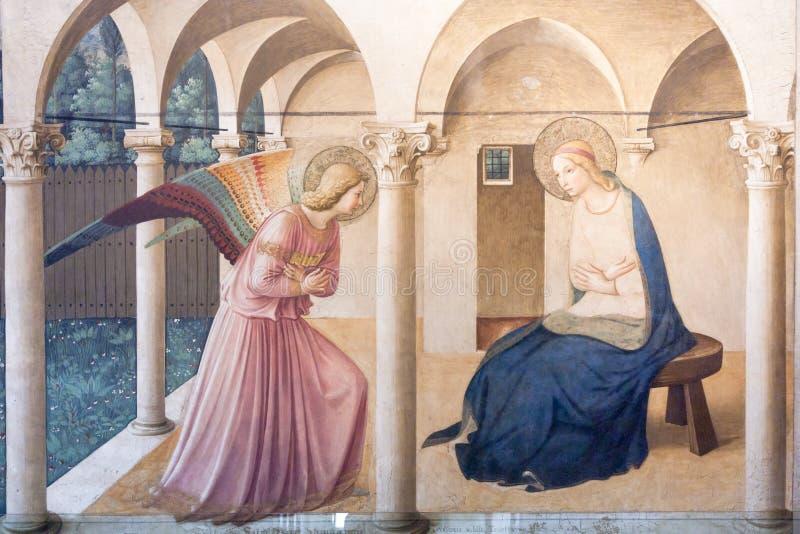 Fra Angelico: O aviso fotos de stock