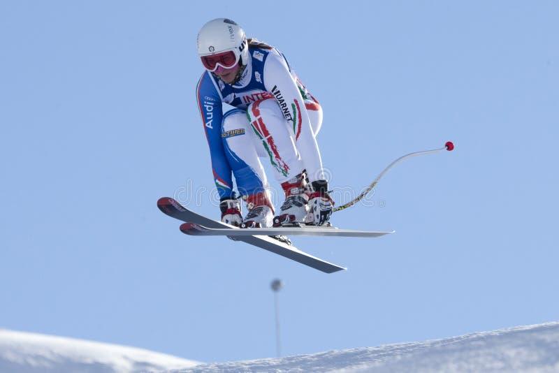 FRA: Esquí alpino Val D'Isere cuesta abajo foto de archivo libre de regalías