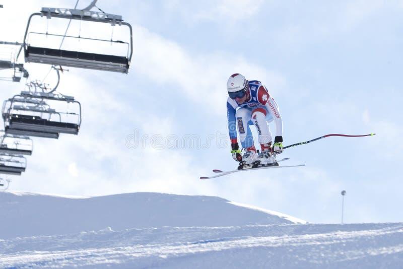 FRA: Esqui alpino Val D'Isere para baixo imagens de stock royalty free