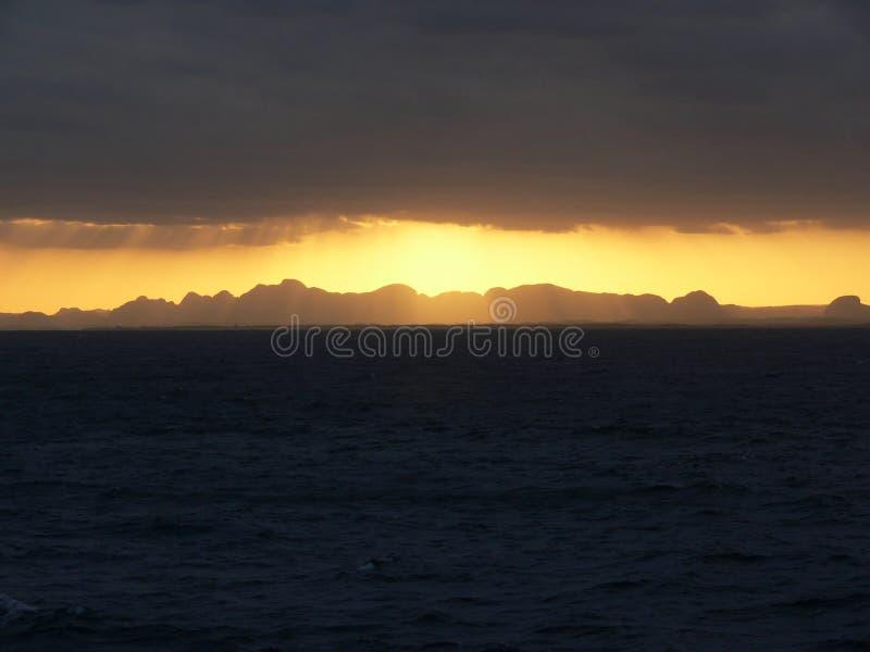 Fra il mare ed il cielo 1 fotografia stock libera da diritti