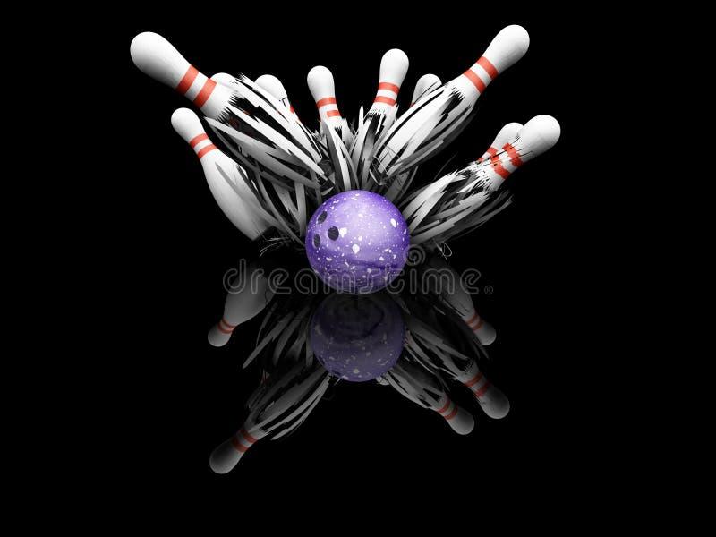 Fracas de bowling de Dix bornes illustration libre de droits