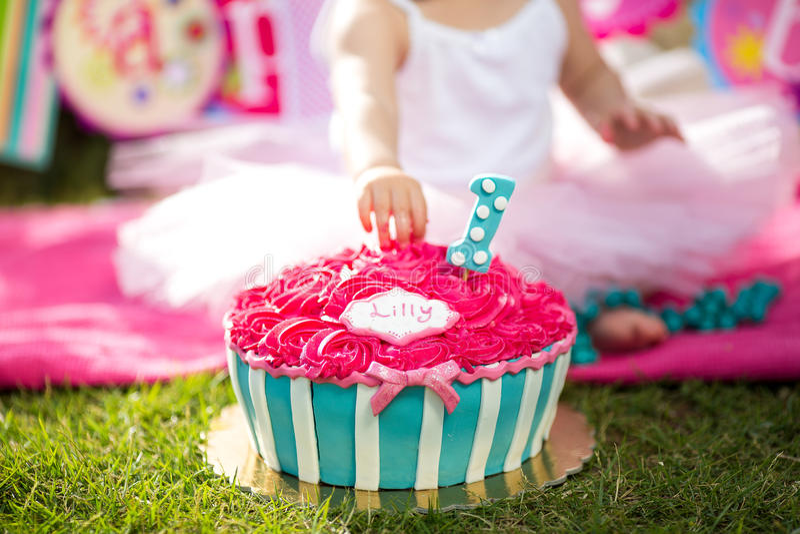 Fracas de gâteau photographie stock