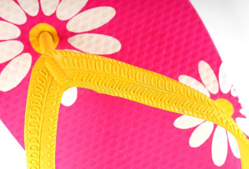 Fracaso de tirón rosado y amarillo fotografía de archivo