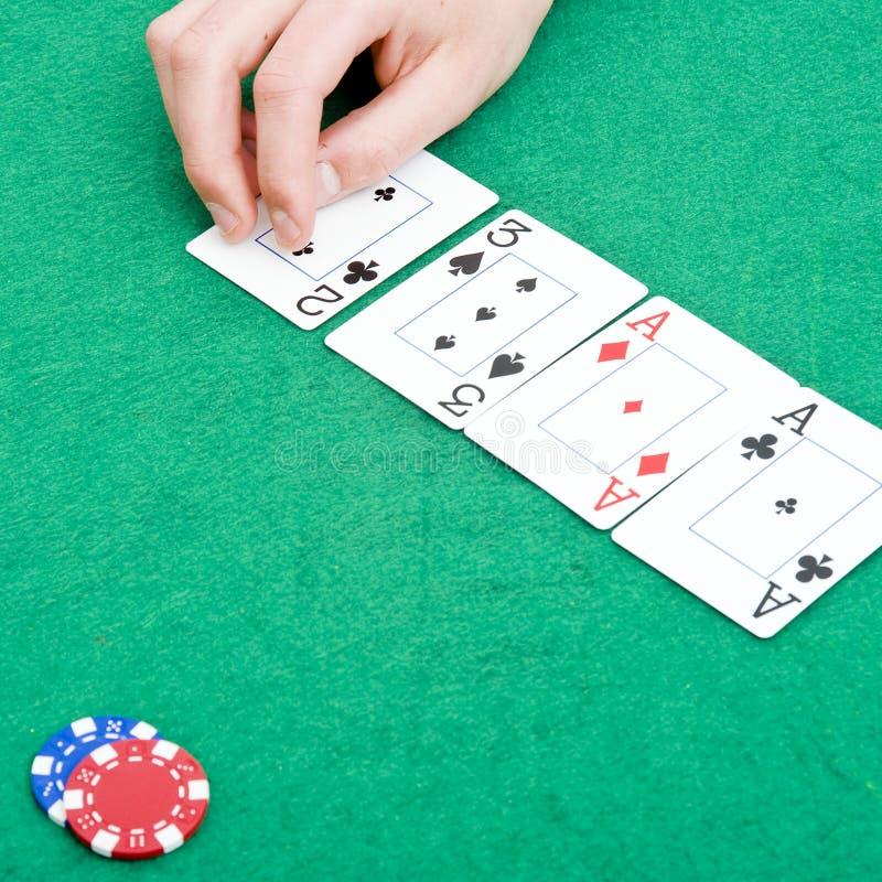 Fracaso del póker fotos de archivo libres de regalías