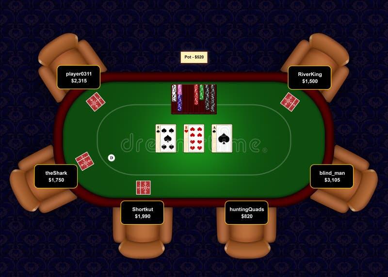 Fracaso en línea del póker stock de ilustración