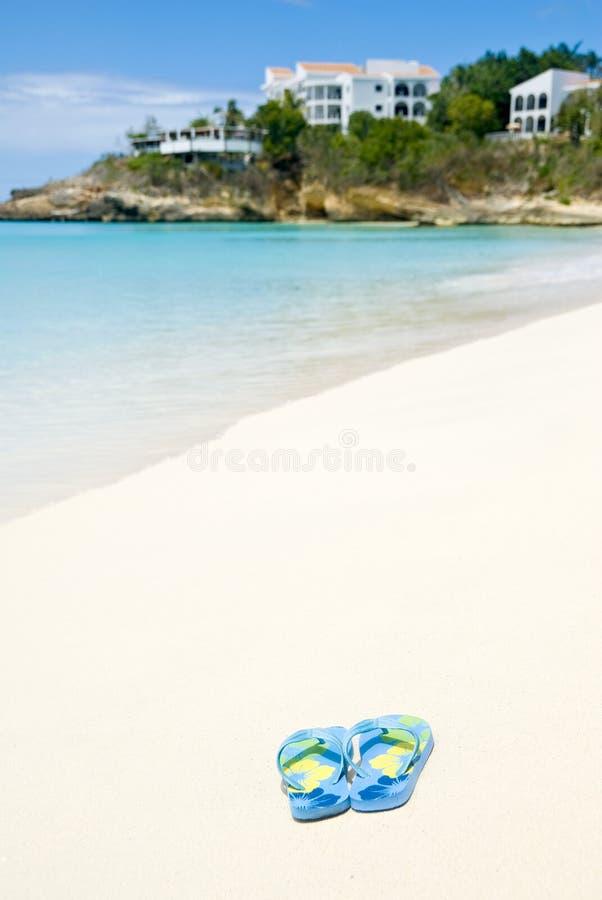 Fracasos de tirón en la playa fotografía de archivo