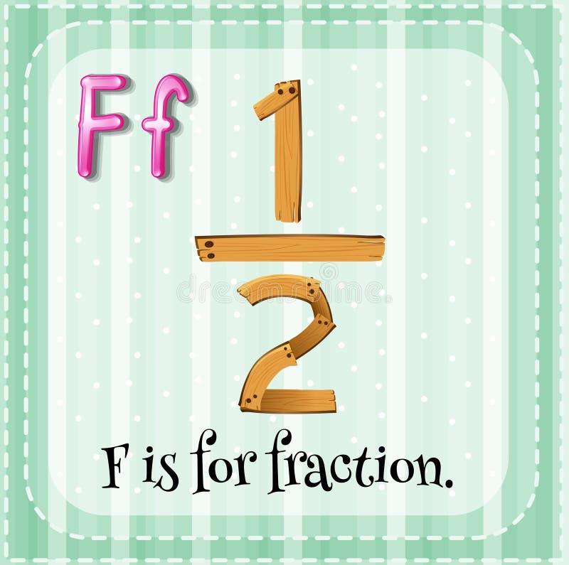 fracción ilustración del vector