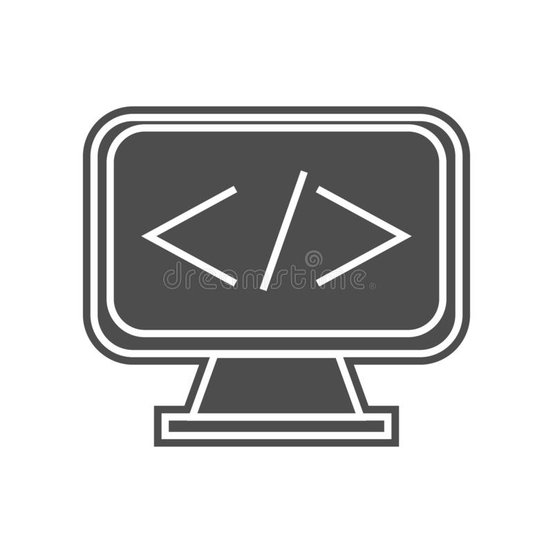 Fracht auf einer Kranhakenikone Element von minimalistic f?r bewegliches Konzept und Netz Appsikone Glyph, flache Ikone f?r Websi vektor abbildung