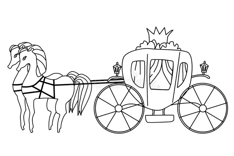 Fracht dla princess odosobnionej ilustracji Wektorowa kolorystyki strona royalty ilustracja