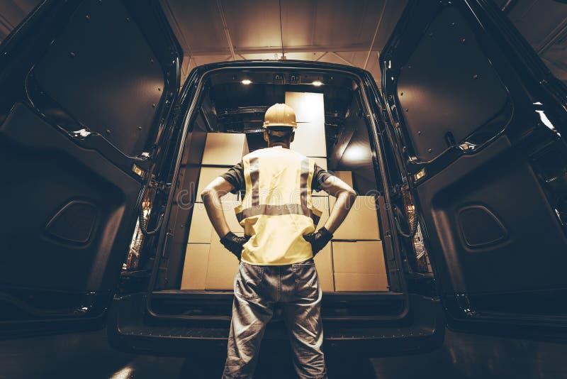 Fracht Van Delivery stockbilder